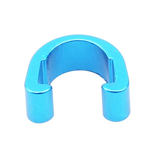 Kingus C en forma de clip de hebilla de tubo de bicicleta Iine abrazadera de tubo fijo MTB freno engranaje cable Clip, azul