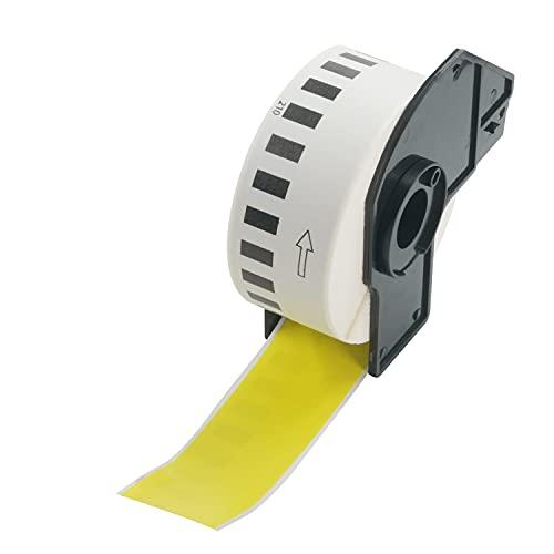 BETCKEY Compatible Etiqueta Continua de Color, Reemplazo para hermano DK-22210, 29mm x 30.48m, para Impresoras de Etiquetas Brother QL, [1 Rollo, Amarillo]
