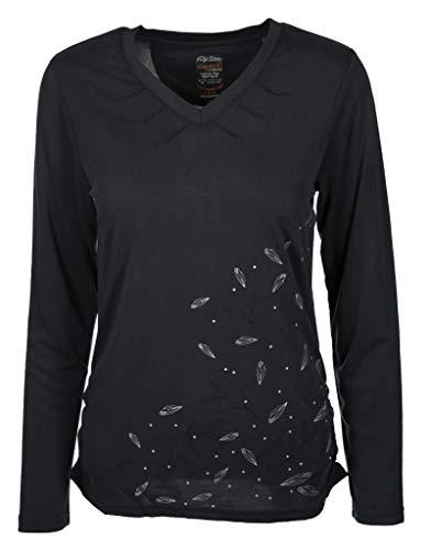 s'questo Damen Shirt mit V-Ausschnitt Größe 36 EU Blau (blau)