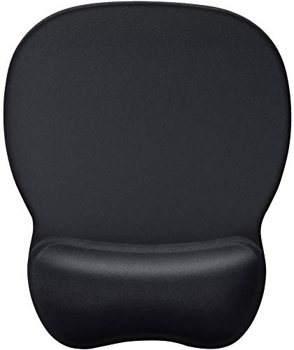 MROCO Ergonomic Mouse Pad with Wrist Support Gel Mouse Pad with Wrist Rest, Comfortable Computer Mouse Pad for Laptop, Pain Relief Mousepad with Non-slip PU Base for Office & Home, 9.4 x 8.1 in, Black