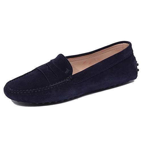 1823J Mocassino Donna Dark Blue Tod'S Scarpe Suede Shoe Loafer Woman [35]