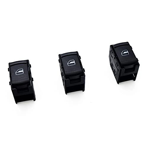 ZHIXIANG 3 x Solicitud del Interruptor de la Ventana de Power Power Power Fit para Volkswagen VW Jetta Bora Golf MK4 Passat B5 1999 2000-2004 3B0959855B