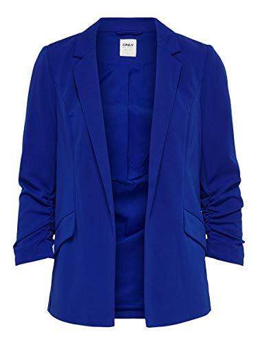 ONLY ONLCAROLINA Diana 3/4 CC TLR Blazer, Mazarine Blue, 36