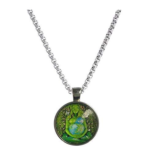 Gaia - Collar con estatua de la madre de la Tierra, diseño de la estatua del milenario de Gaia para el día de la madre, regalo personalizado para mujeres y hombres, día de la madre-B