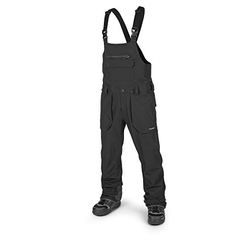 Volcom Men's Roan Bib Overall Snow Pant, Black, Medium