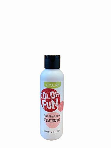 Etolab - Color de pelo semipermanente, rojo, 3x125 ml
