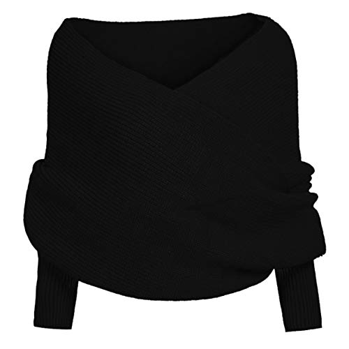 FXYY Dikke zachte sjaal Cape Sjaal - Winter Mode Unisex Warm Haak Gebreide Wrap Sjaal Cape met Mouwen Vrouwen Mannen Sjaals Deken