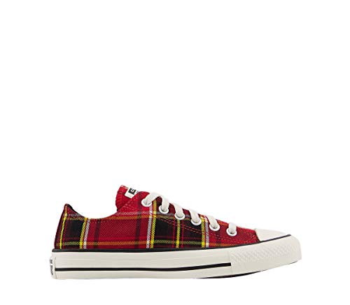 Converse All Star Low University Red Black Egret Check, color Rojo, talla...