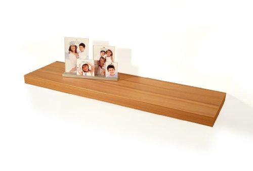 living-by-design Wandboard Bobby Kernbuche Dekor 80cm - Deutsche Herstellung Schablone und Schrauben - Wandregal Wandbord