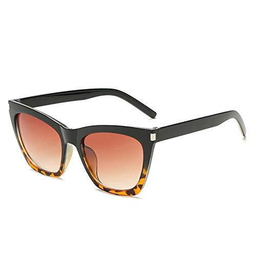 Gafas De Sol Hombre Mujeres Ciclismo Gafas De Sol Mujer Vintage Gradient Gafas De Sol Sombras Mujer Sunglass-Black_Leopard