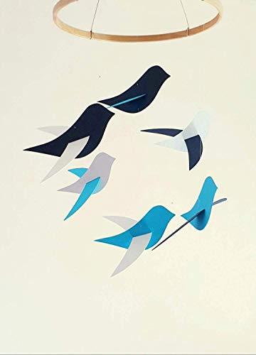 Movil montessori pájaros