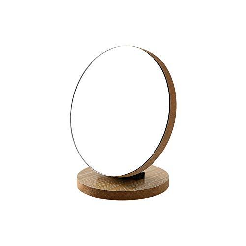 AB Klaptafel van hout, make-uptafel, spiegel, tafel, spiegel, draagbaar, inklapbaar Tromba Rotonda