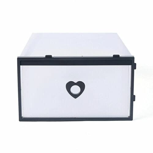 24 cajas de zapatos transparentes de plástico para manualidades, cajas de almacenamiento apilables, cajas de zapatos plegables, cajas de zapatos, juguetes, herramientas, accesorios, 31 x 21 x 12 cm