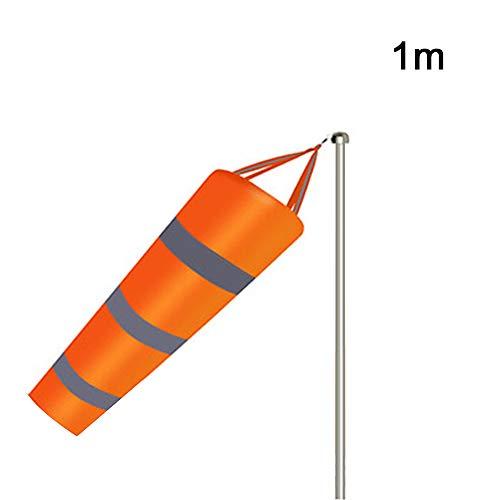 SUNJULY Bandera de Medición del Viento, Manga de Viento con Cinturón Reflectante - Calcetín de Nylon Resistente a la Intemperie para la Medición del Viento al Aire Libre,1M