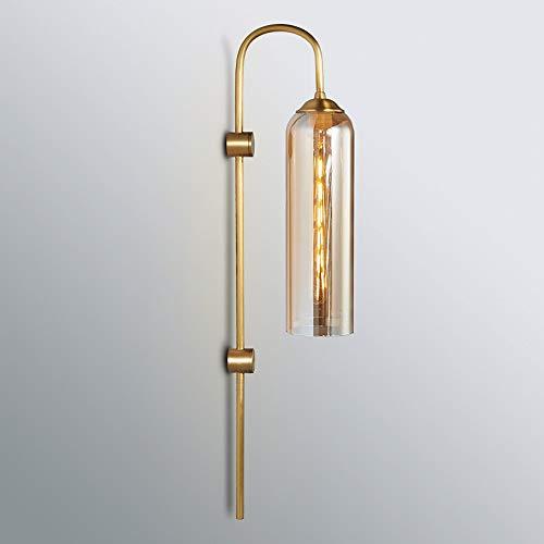 LAAL Nordic Creative Glass Rohrwandleuchte Luxuxwohnzimmer Bar-Hintergrund-Wand Villa Schlafzimmer Kopfteil LED-Wandleuchte 75 * 20CM (Farbe : Yellow)