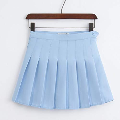 XJJZS Señoras Dulce Cintura Alta Falda Plisada Chicas Harajuku Mini Falda señoras Verano Delgado Falda Corta Falda Escolar Uniforme Falda (Color : B, Size : XX-Large)