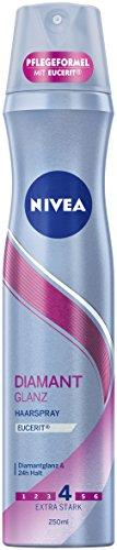 NIVEA Diamant Glanz Haarspray (1 x 250 ml), zum Haarstyling für alle Haartypen, angenehmer Duft  & besonders starker Halt