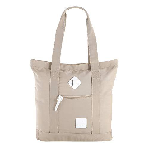 Unbekannt Let's Go Shopper Dorethe 31.1139 | Einkaufstasche mit Reißverschluss | Badetasche Strandtasche für Sommer | praktische Alltagstasche | modernes Design (beige)