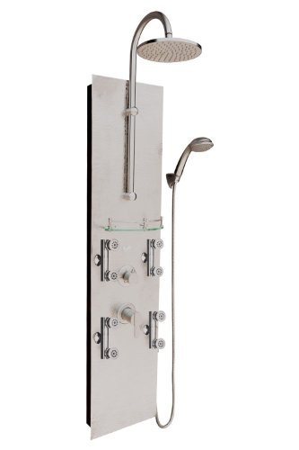 Fantastic Prices! Pulse 1027 Vaquero Shower Spa with Hammered Nickel and Chrome Hardware, Hammered N...