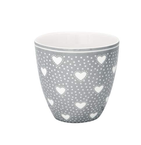 GreenGate - Becher, Tasse, Kaffeetasse, Mini Latte Cup - Penny - Porzellan - Grey - 125 ml