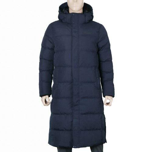 KOLPING Winter Long Jacket Women Water Resistant Jacket Goose Down Jacket Padded Ecological Warm Cozy Lightweight - Blue - M