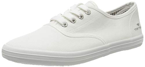 TOM TAILOR Damen 8092401 Sneaker, Weiß (White 00002), 37 EU