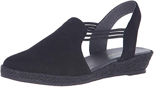 David Tate Women's Nelly Slingback,Black Nubuck,US 9 M