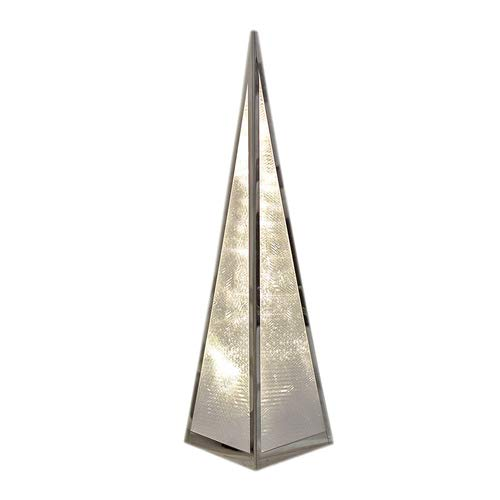 LED Pyramide, Weihnachtsbeleuchtung, Hologramm Effekt Weihnachten, Höhe ca. 45,5cm
