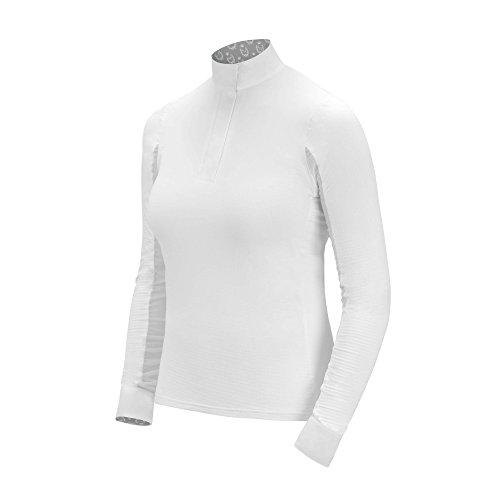 irideon Damen Abklingzeit Icefil Show Shirt, White/horseshoe Trellis