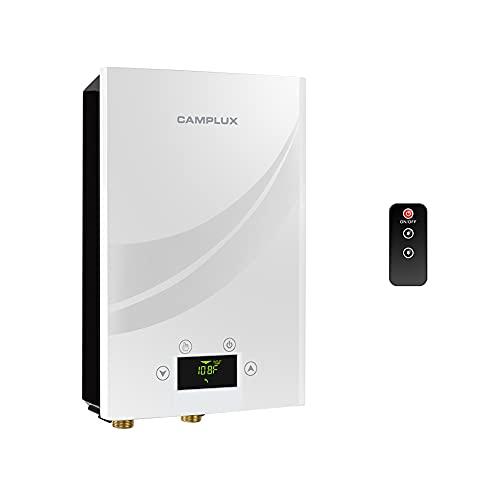 Camplux - Calentador de agua eléctrico sin tanque 240 V, color negro, 11 kW (blanco)