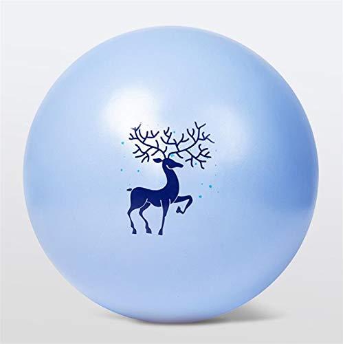 Qianglin Ejercicio Bola de Yoga, Embarazo de Maternidad Bola de Parto Carga máxima 660 Lbs, Balance Resistente a la Resistencia Anti-ráfaga ecológica PVCMaterial 65CMincludeAir Pump (Color : Blue)