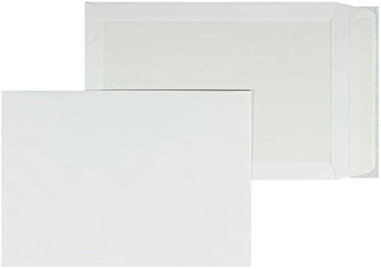 Papprückwandtaschen   Premium   320 x 420 mm Weiß (100 Stück) mit Abziehstreifen   Briefhüllen, KuGrüns, CouGrüns, Umschläge mit 2 Jahren Zufriedenheitsgarantie B01DW3M838  | Hohe Qualität