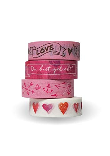 Washi Tapes Set Rosa »Du bist geliebt!«