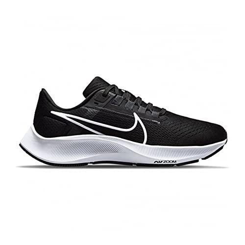 Nike Air Zoom Pegasus 38, Scarpe da Ginnastica Donna, Black/White-Anthracite-Volt, 39.5 EU