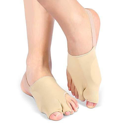 Protector de Mangas Correctoras para Juanetes Hallux Valgus, Corrector de Juanetes con Silicona separador dedos pie, Calcetines de Gel para Dedos de Los Dedos Grandes, Desgaste en Zapatos (1 Pair)