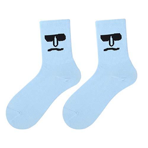 Yissma Unisex Surprise Mid Heren Sokken Kleurrijke Grappige Sokken Nieuw katoenen sokken 1 paar