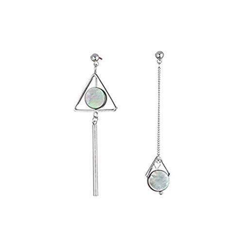 Geometric Simple Triangle Long Bar Stick Chain Tassel Dangle Earrings Women