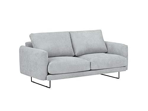 Kooko Home Schlafsofa, Mambo, 3-Sitzer, silberfarben, 196 x 96 x 84 cm