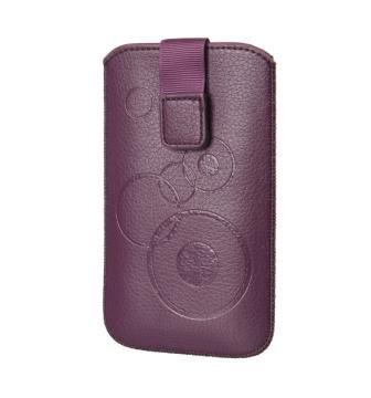 Handytasche Circle für Samsung Galaxy Ace S5830 La Fleur Handy Tasche Schutz Hülle Slim Case Cover Etui violett (ku-m-vi-ci)