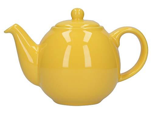 London Pottery Globe Kleine Teekanne mit Sieb, Keramik, gelb, 2 Tassen (500 ml)