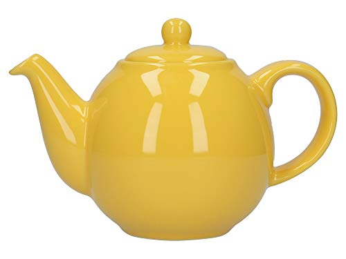 London Pottery Tetera con colador, Globe, cerámica, Amarillo, 2 Cup (500 ml)