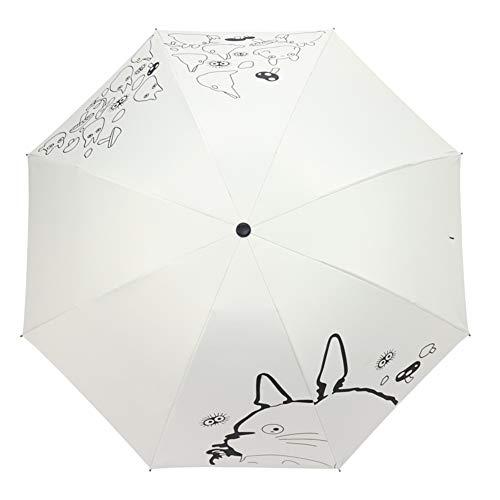 Mein Nachbar Totoro Sonne Regen Regenschirm,Anime Fully Auto Open Close Umbrella Totoro - Winddicht A One Size