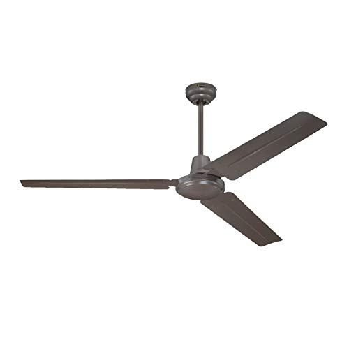 Westinghouse Lighting, Ventilatore a soffitto Industrial, interruttore a parete, ciclo estate/inverno, ø 142 cm 7862340, metallo
