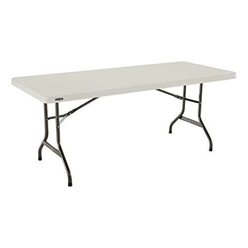 Lifetime à Vie Commercial Table Pliante 183cm x 76cm, Height: 74cm. 5.5cm Thick 6-Foot | 183cm