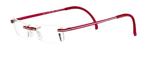 Switch it! Garnitur Wechselbügel Kunststoff dünn transparent mit Streifen, Combi 107 rot-silber,