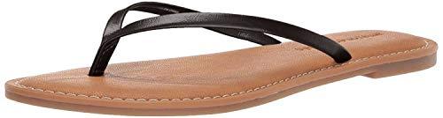 Amazon Essentials – Sandalias de dedo para mujer, Negro, 38 EU