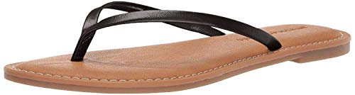Amazon Essentials Women's Thong Sandal, Black, 8 B US