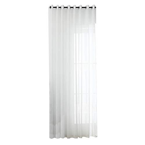 Mothcattl Vorhang , Hohl Polyester Tüll Vorhang Fenster Balkon Schlafzimmer Trennwand Drapieren Home Decor Weiß