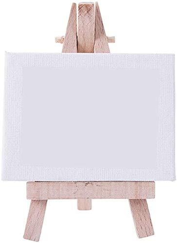 YUXO Caballete de Madera Grandes Soporte de exhibición de Lona Mini pequeño Caballete portátil con Caballete de Escritorio para Estudio Infantil de Mesa de Trabajo Caballete de Pintura de Estu