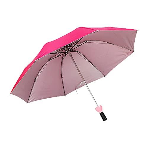 YHD Paraguas Solar Creativo,Paraguas Plegable para Botella de Vino,Mini Paraguas para Las Mujeres de los Hombres Regalos de Equipo para la Lluvia Paraguas